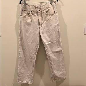 Vintage!! Lee off white jeans